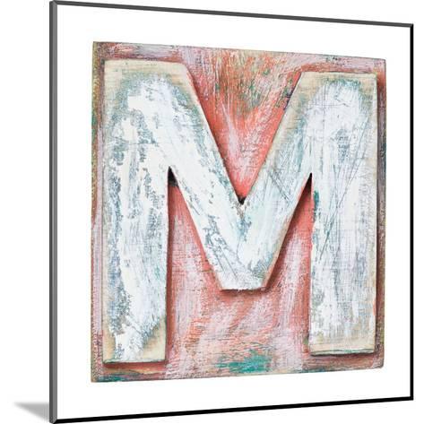 Wooden Alphabet Block Letter M Art Print by donatas1205 Artcom