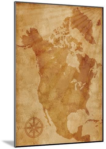 North America Map Illustration- alehnia-Mounted Art Print