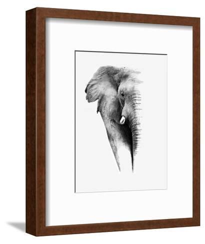 Artistic Black And White Elephant-Donvanstaden-Framed Art Print