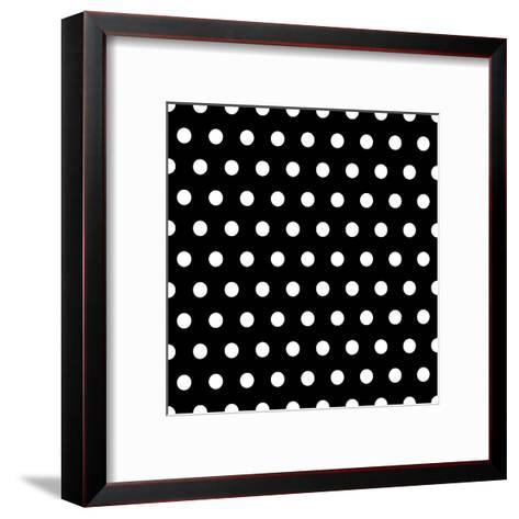 Black And White Dots Background- poofy-Framed Art Print