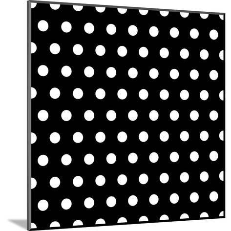 Black And White Dots Background- poofy-Mounted Art Print