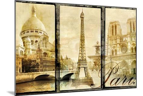 Paris - Old Photo-Album Series-Maugli-l-Mounted Art Print