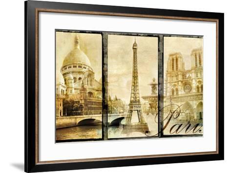 Paris - Old Photo-Album Series-Maugli-l-Framed Art Print
