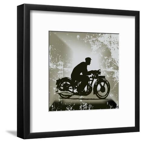 Vintage Motorcycle Background-Petrafler-Framed Art Print