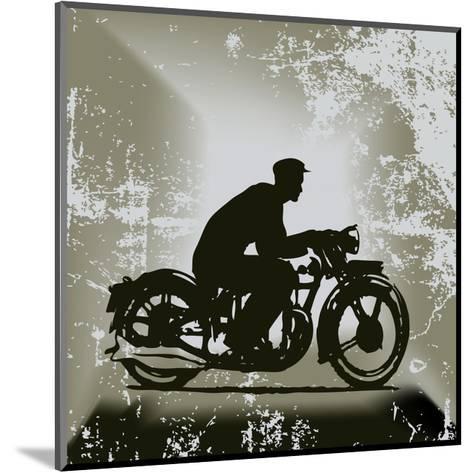 Vintage Motorcycle Background-Petrafler-Mounted Art Print