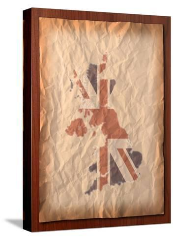 Vintage Uk Map On Paper Craft-vichie81-Stretched Canvas Print
