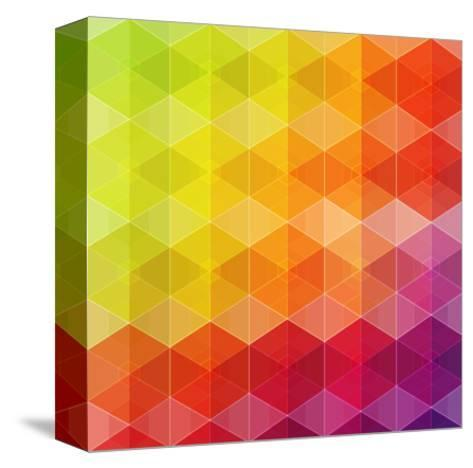 Geometric Hipster Retro Background-Click Bestsellers-Stretched Canvas Print