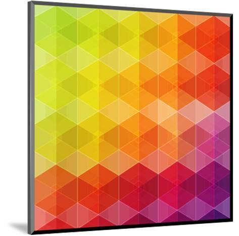 Geometric Hipster Retro Background-Click Bestsellers-Mounted Art Print