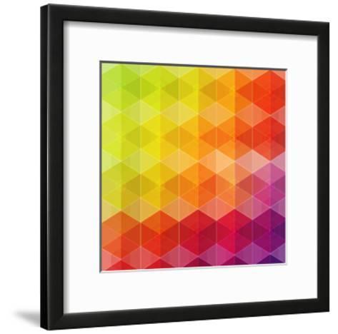 Geometric Hipster Retro Background-Click Bestsellers-Framed Art Print
