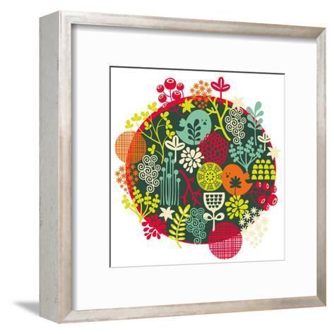 Birds, Flowers And Other Nature-panova-Framed Art Print