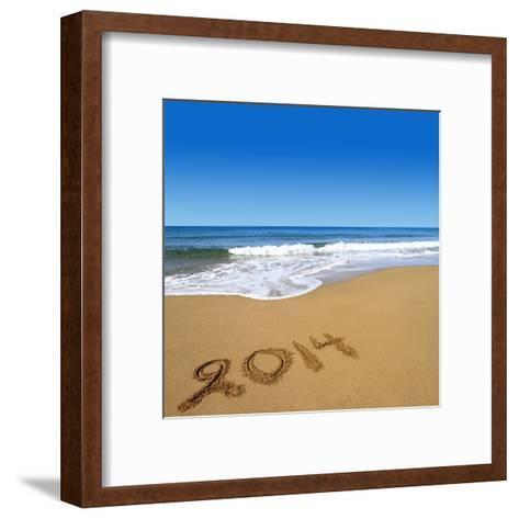 2014 Written On Sandy Beach-viperagp-Framed Art Print
