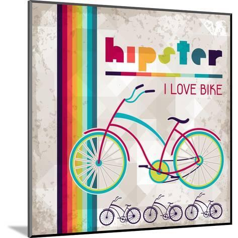 Hipster Background In Retro Style-incomible-Mounted Art Print