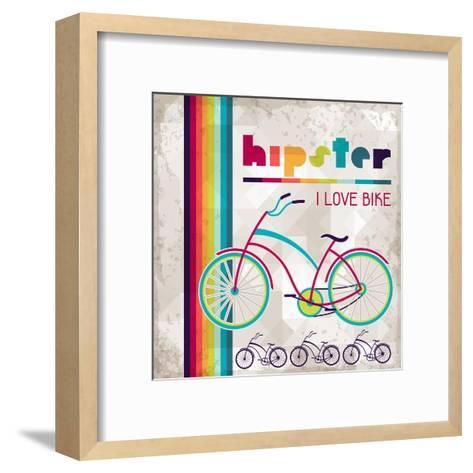 Hipster Background In Retro Style-incomible-Framed Art Print