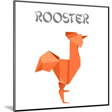Illustration Of An Origami Rooster-unkreatives-Mounted Art Print