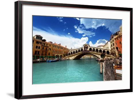 Rialto Bridge In Venice, Italy-Iakov Kalinin-Framed Art Print