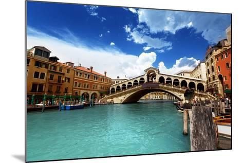 Rialto Bridge In Venice, Italy-Iakov Kalinin-Mounted Art Print
