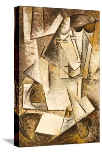 Abstract Cubism Oil Painting- mullrich-Stretched Canvas Print
