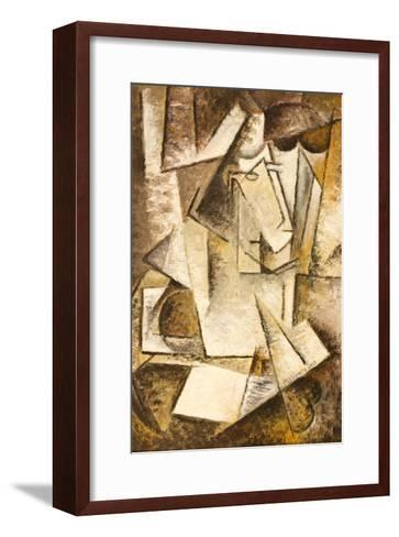 Abstract Cubism Oil Painting- mullrich-Framed Art Print