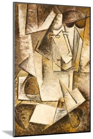 Abstract Cubism Oil Painting- mullrich-Mounted Art Print