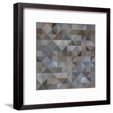 Abstract Triangle Background-epic44-Framed Art Print
