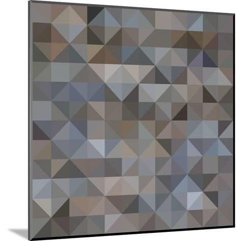 Abstract Triangle Background-epic44-Mounted Art Print
