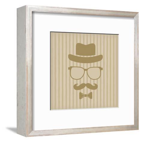 Hipster'S Hat, Glasses, Moustache-marina_abcd-Framed Art Print