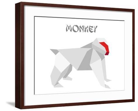 Illustration Of An Origami Monkey-unkreatives-Framed Art Print