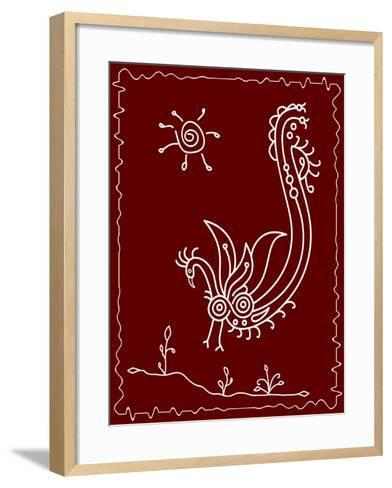 Folk Motif Design Wall Painting-Ajay Shrivastava-Framed Art Print