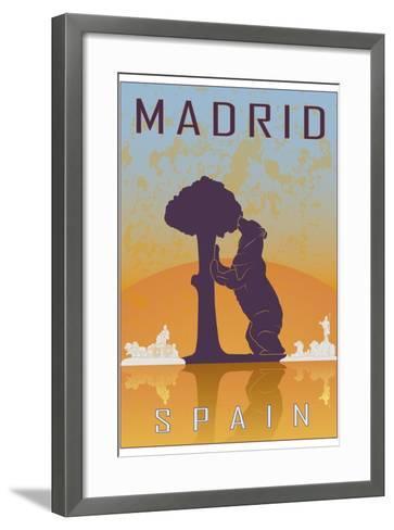 Madrid Vintage Poster-paulrommer-Framed Art Print