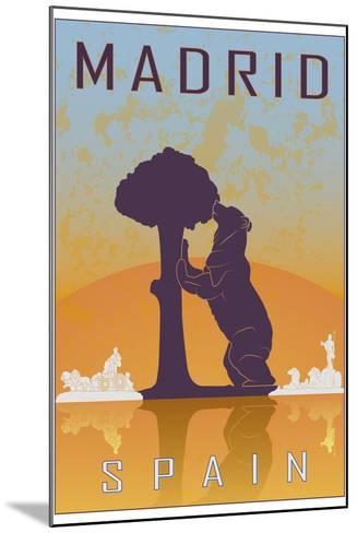 Madrid Vintage Poster-paulrommer-Mounted Art Print