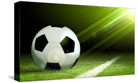 Black And White Soccer Ball-Sergey Nivens-Stretched Canvas Print