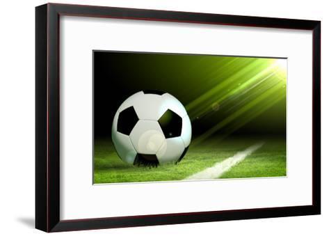Black And White Soccer Ball-Sergey Nivens-Framed Art Print