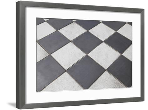 Black And White Tiled Floor Art Print By Landio Art