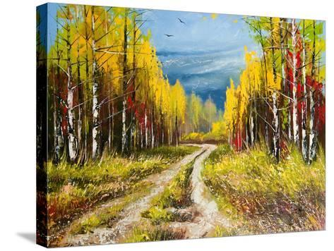 Oil Painting - Gold Autumn-balaikin2009-Stretched Canvas Print