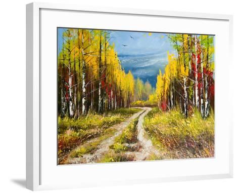 Oil Painting - Gold Autumn-balaikin2009-Framed Art Print