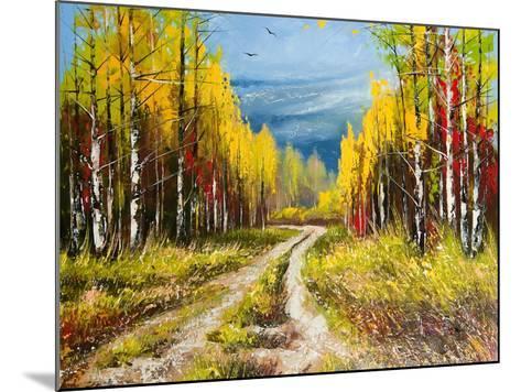 Oil Painting - Gold Autumn-balaikin2009-Mounted Art Print