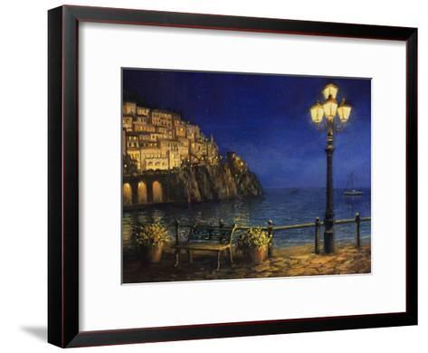 Summer Evening In Amalfi-kirilstanchev-Framed Art Print