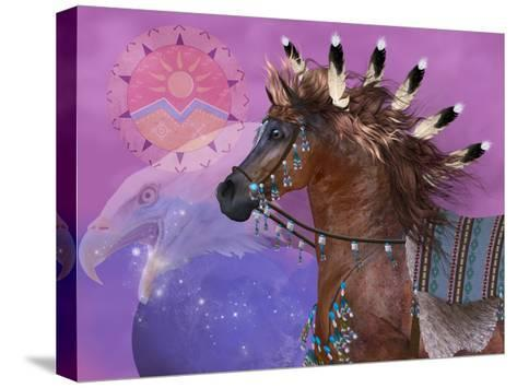 Year Of The Eagle Horse-Corey Ford-Stretched Canvas Print