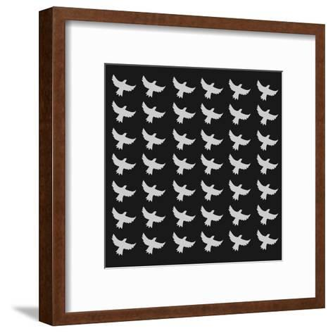 Seamless Birds Pattern-Sira Anamwong-Framed Art Print
