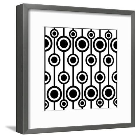 Seamless Retro Pattern-katritch-Framed Art Print