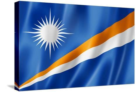 Marshall Islands Flag-daboost-Stretched Canvas Print