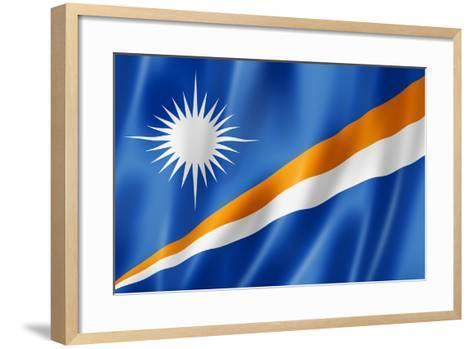Marshall Islands Flag-daboost-Framed Art Print