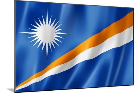 Marshall Islands Flag-daboost-Mounted Art Print