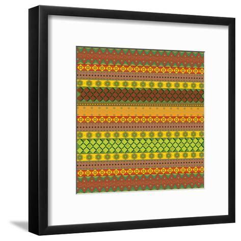 Bright Aztec Pattern-Yaroslavna-Framed Art Print