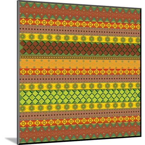 Bright Aztec Pattern-Yaroslavna-Mounted Art Print