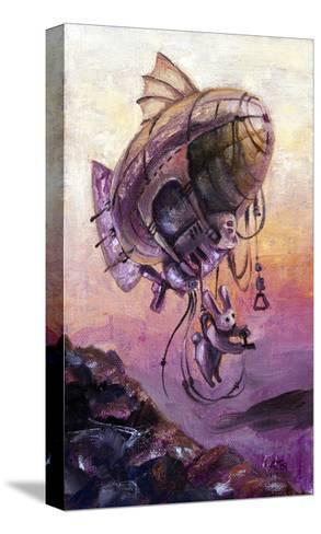 Rabbit The Dirigible Pilot-Leks-Stretched Canvas Print