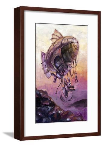 Rabbit The Dirigible Pilot-Leks-Framed Art Print