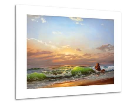 Sea Landscape On A Sunset-balaikin2009-Metal Print