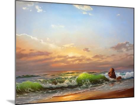 Sea Landscape On A Sunset-balaikin2009-Mounted Art Print