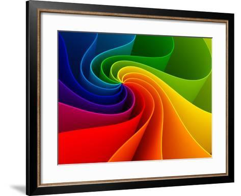 3D Colorful Background-Sashkin-Framed Art Print